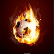 Vector abstract background with a burning football Ball — Stock Vector #9311427