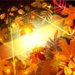 vector achtergrond met Herfstbladeren — Stockvector