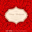 Vector red, holiday, vintage background — Stock Vector