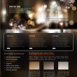 Vector website template for business - Stock Vector