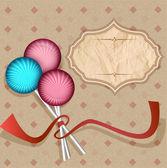 Vector, fondo vintage con lollipops.candy en un palo — Vector de stock