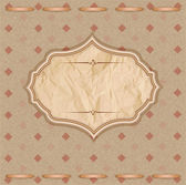 Vector, vintage congratulatory background with crumpled paper an — Vecteur