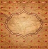 Vector, vintage congratulatory background of crumpled paper — Stock Vector