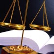 Royalty-Free Stock Photo: Scale of justice and books
