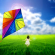 Kite flying — Stock Photo