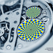 Gears turning - optical illusion — Stock Photo