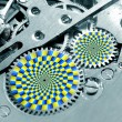 Stock Photo: Gears turning - illusion
