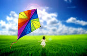 Kite flying — Foto de Stock