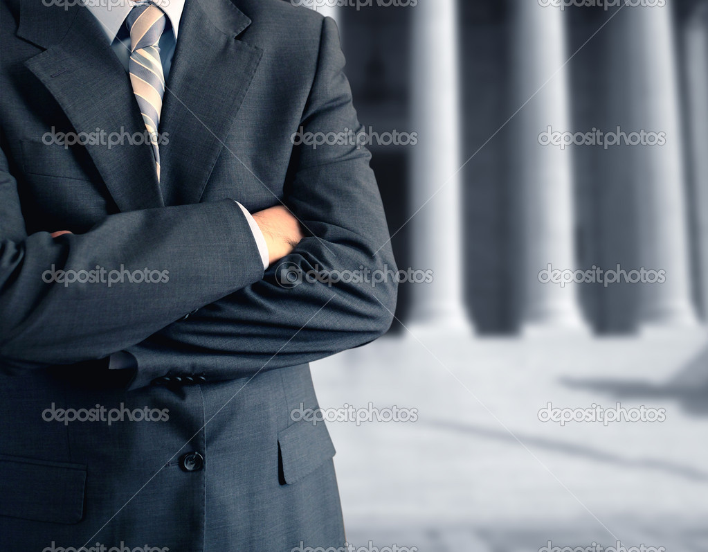 Divorce lawyer in front of the courthouse — Stock Photo #8230181