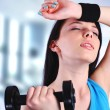 Woman at the gym — Stock Photo #9947108
