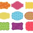 Vintage Colorful Design Elements for Scrapbook - Tags and Frames - Stock Vector