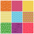 Set of Seamless Colorful backgrounds - in vector — Stock Vector #10144360