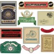 Collection of Vintage Labels in vector — Stock Vector
