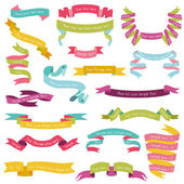 Set of Colorful Ribbons for your Text - in vector - part 1 — Stock Vector
