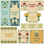 Vintage Style Labels Set - in vector — Stock Vector