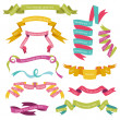 Stock Vector: Set of Colorful Ribbons for your Text - in vector - part 1