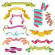 Set of Colorful Ribbons for your Text - in vector - part 1 — Stock Vector #10262077