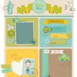 elementi di design scrapbook - bambino ragazzo carino insieme - in vettoriale — Vettoriale Stock  #10262093