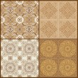 Seamless Vintage Background Collection -Victorian Tile in vector — Stock Vector