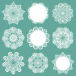 Set of Lace Napkins - for design and scrapbook - in vector — Stockvectorbeeld