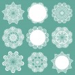 Set of Lace Napkins - for design and scrapbook - in vector - Stock Vector
