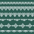 Set of Lace Ribbons - for design and scrapbook - in vector — Stockvektor