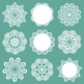 设置的花边餐巾-为设计和剪贴簿-向量中 — 图库矢量图片