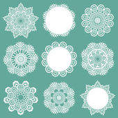 Set of Lace Napkins - for design and scrapbook - in vector — Stockvector