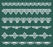 Set of Lace Ribbons - for design and scrapbook - in vector — Stock Vector