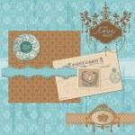 Scrapbook design elements - Vintage Wedding Set - in vector — Stock Vector
