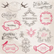 Vector de stock : Wedding Vintage Frames and Design Elements - in vector