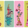 Vintage Children Banner Set - in vector — Stock vektor