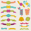 Set of Colorful Ribbons for your Text - in vector - part 3 — Imagen vectorial