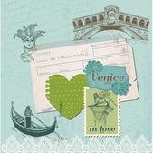 Scrapbook Design Elements - Venice Vintage Set - in vector — Stock Vector