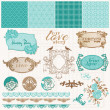 Scrapbook Design Elements - Vintage Love Set - in vector - Image vectorielle