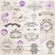 Royalty-Free Stock Vector Image: Vector Set: Calligraphic Design Elements and Page Decoration