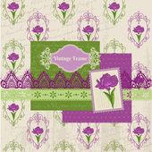 Scrapbook Design Elements - Iris Flowers in vector — Stock Vector
