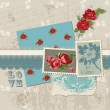 Scrapbook Design Elements - Vintage Flowers in vector - Stock Vector