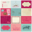 Wedding Design Elements -for invitation, scrapbook in vector — Stock Vector