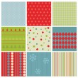 Set of Christmas Seamless Backgrounds - for design and scrapbook — Stock Vector #8004433