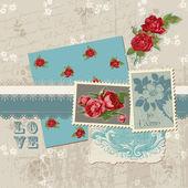 Scrapbook Design Elements - Vintage Flowers in vector — Stock Vector