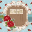 Stock Vector: Scrapbook Design Elements - Vintage Flowers Scrapbook Page in ve
