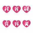 Royalty-Free Stock Vector Image: Set of icons - Couple in love - vector illustration