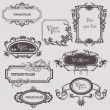 Vintage frames and design elements - with place for your text — Stock Vector #8502740