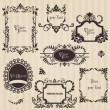 Vintage frames and design elements - with place for your text — Vector de stock #8610419