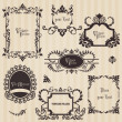 Vintage frames and design elements - with place for your text — Stock Vector #8610419