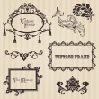 Vintage frames and design elements - with place for your text — Vector de stock #8610426