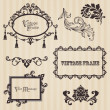 Vintage frames and design elements - with place for your text — Stok Vektör #8610426