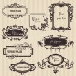 Vintage frames and design elements - with place for your text — Image vectorielle
