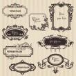 Marcos antiguos y elementos de diseño - con lugar para el texto — Vector de stock